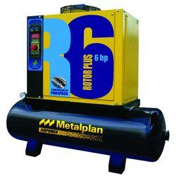 Compressor-de-Ar-Parafuso-Rotor-Plus-R6-Metalplan---6HP-97-Litros