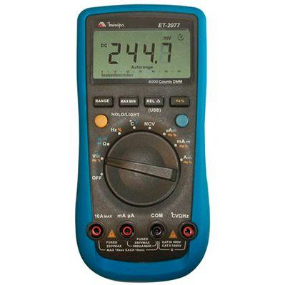 Multimetro-Digital-MINIPA-ET-2077-CAT-III-600V-Interface-USB-ant-ferramentas