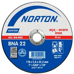 Disco-de-Corte-Norton-Inoxidavel-BNA22-ant-ferramentas