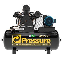 Compressor-de-ar-Pressure-Onix-ON40360WTF-40pcm-360L-220-380-Trif
