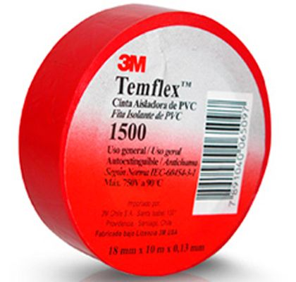 Fita-Isolante-Vermelha-Temflex-3M-18mmx10m