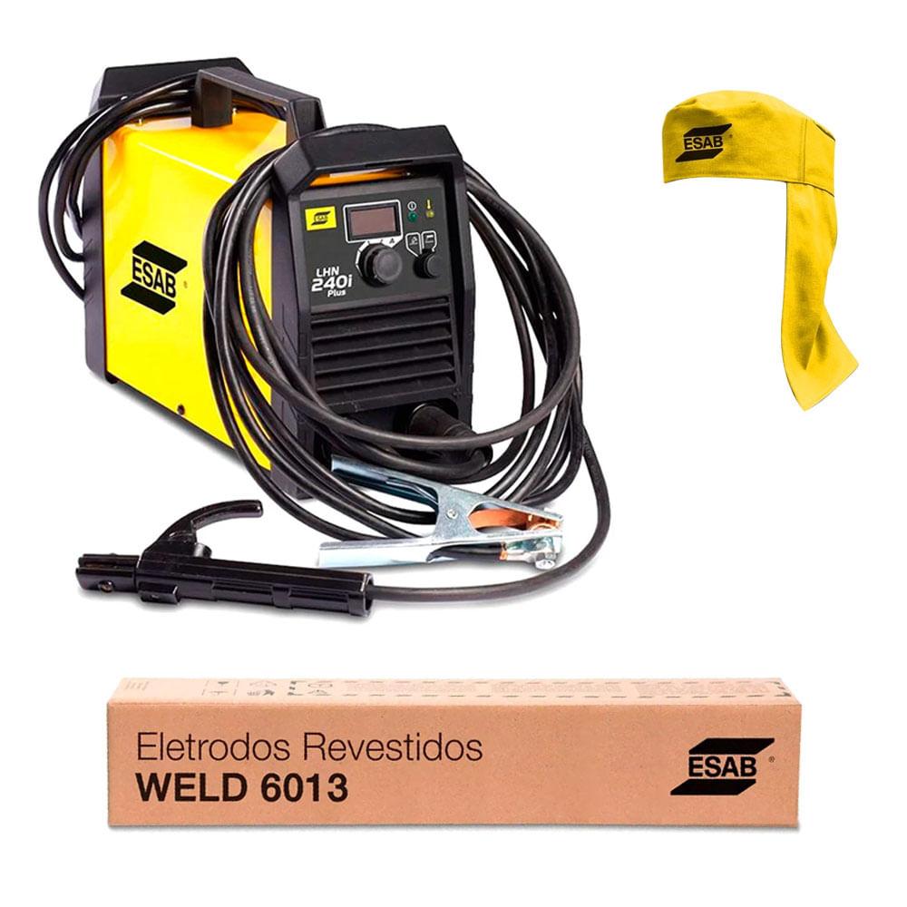 6b47fb6b64589 Inversor de Solda LHN240i Plus + Eletrodo Weld 5Kg Esab - ANT ...