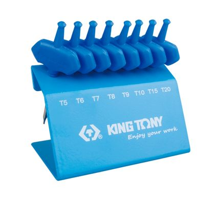 Jogo-de-Chave-Torx-Mini-Cabo-T-de-T5-a-T20-King-Tony-8-Pecas-23308PR-ANT-Ferramentas