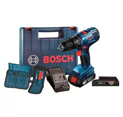 Parafusadeira---Furadeira-a-Bateria---Kit-de-Bits-e-Brocas-18V-Bosch-GSB-180LI-KIT-ANT-Ferramentas