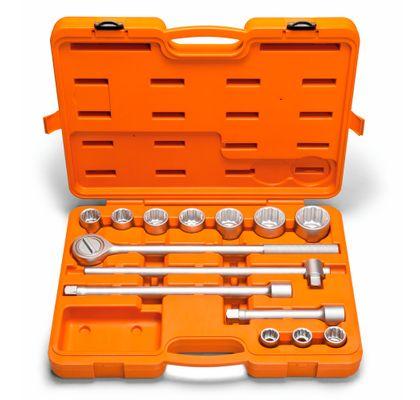Jogo-de-Soquetes-Estriados---Acessorios-3-4--14-Pecas-Tramontina-44853214-ANT-Ferramentas
