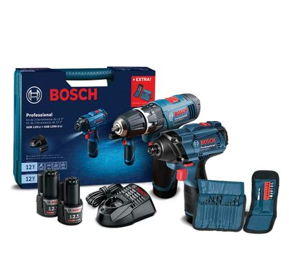 Furadeira-Parafusadeira-de-Impacto---Chave-de-Impacto-12V---Acessorios-Bosch-ANT-Ferramentas