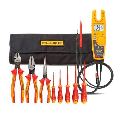 Kit-Alicate-Amperimetro-T6-1000---Jogo-de-Ferramentas-Isoladas-8-Pecas-Fluke-IBT6K-ANT-Ferramentas